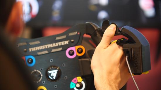 Ecco l'hand controller by 3DRap in azione con il nostro TS PC Racer e Assetto Corsa