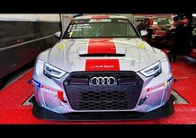 Nei box Audi con la RS3 TCR DSG: l'auto di Masterpilot, Capello e Naska a Misano [video]