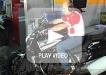 La prova al banco della Yamaha VMAX