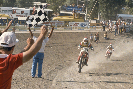Giuseppe Andreani impegnato in gara