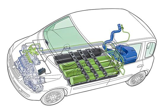 Un possibile nuovo pianale per l'erede della Fiat Punto in versione EV con batterie ma anche bifuel, a gas