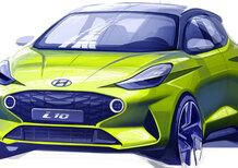 Nuova Hyundai i10 2020 | Primi bozzetti ufficiali in attesa di Francoforte