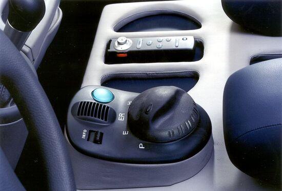 I comandi per selezionare le modalità guida ibride sulla Fiat MPV
