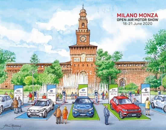 Un primo disegno sul Focus dell'auto elettrica Milano