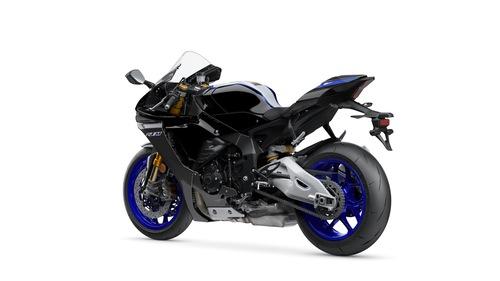 La Yamaha R1M in livrea Silver Blu Carbon BWM2/Carbon
