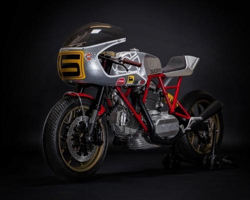 Walt Siegl Bedeveled: special da pista con motore carter quadri Ducati 900 SS (9)