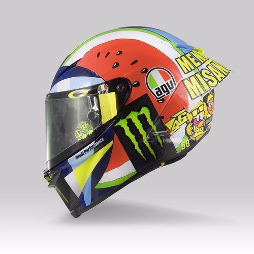 Valentino Rossi: un casco per... mangiarsi Misano (7)