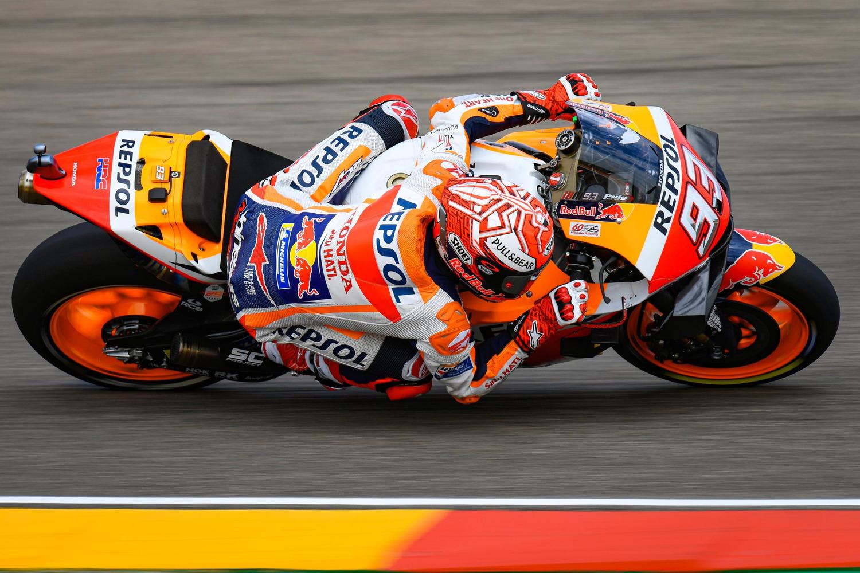 MotoGP 2019. Marc Marquez, pole con brivido ad Aragon