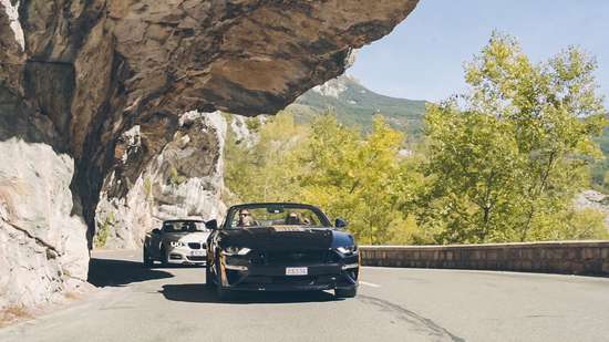 Black Chili Driving Experience 2019 su Route Napoléon e Grand Canyon - Mustang GT