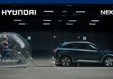 Hyundai Nexo, l'atleta olimpica corre nella bolla di emissioni green nello spot