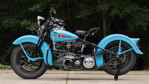 Harley Davidson Knucklehead: un esemplare del 1938 all'asta (2)