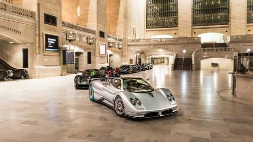 Pagani, sei vetture in mostra alla Grand Central Station di New York
