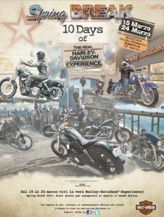 Harley-Davidson Spring Break 2012. Gli eventi dei concessionari