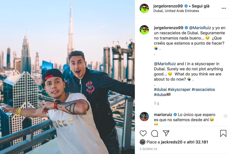 MotoGP. Jorge Lorenzo #nonstaacasa: eccolo in vacanza a Dubai