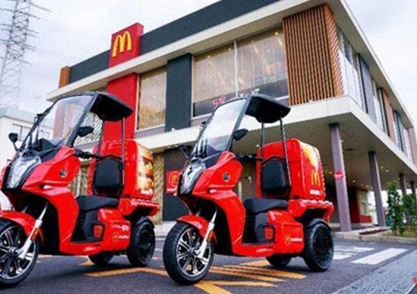 Mc Donalds Giappone. Il delivery è elettrico e su 3 ruote