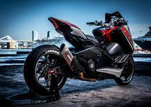 Yamaha TMAX Lobomotive: stile R1 SBK e freni da MotoGP
