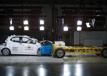 Crash test Euro NCAP, cinque stelle per la Toyota Yaris
