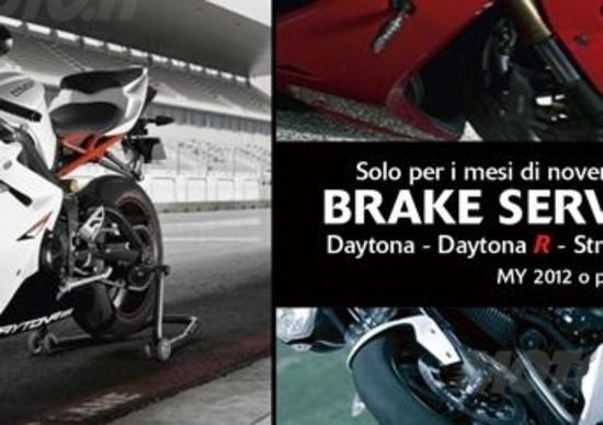 Triumph lancia la campagna Brake Service Check