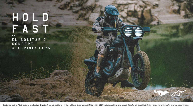 Alpinestars e El Solitario presentano Hold Fast Concept X