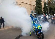 Festa per Joan Mir, il video della virgola nera sulle strade di Maiorca