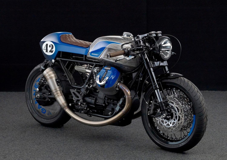 Moto Guzzi V9 Rhapsody in Blue. La café racer di Arctos