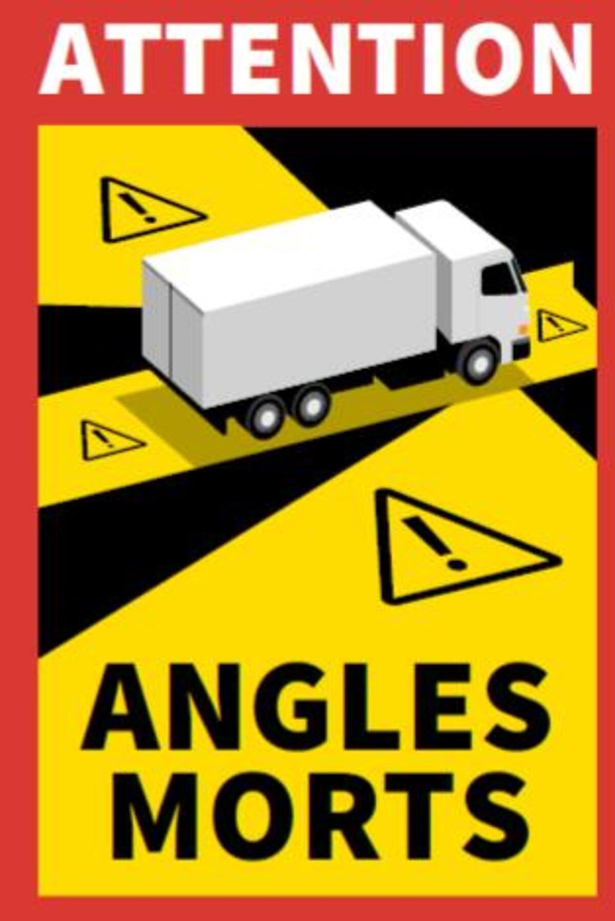 1 pezzo Angles Morts myisgk con peso superiore a 3,5 t 30 adesivi per punti ciechi angolo Morts