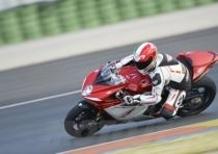 MV Agusta. Test ride in pista a San Martino del Lago il 22 aprile
