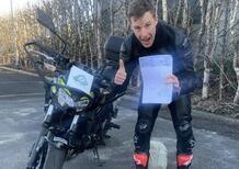 SBK. Jonathan Rea ha preso la patente per la moto