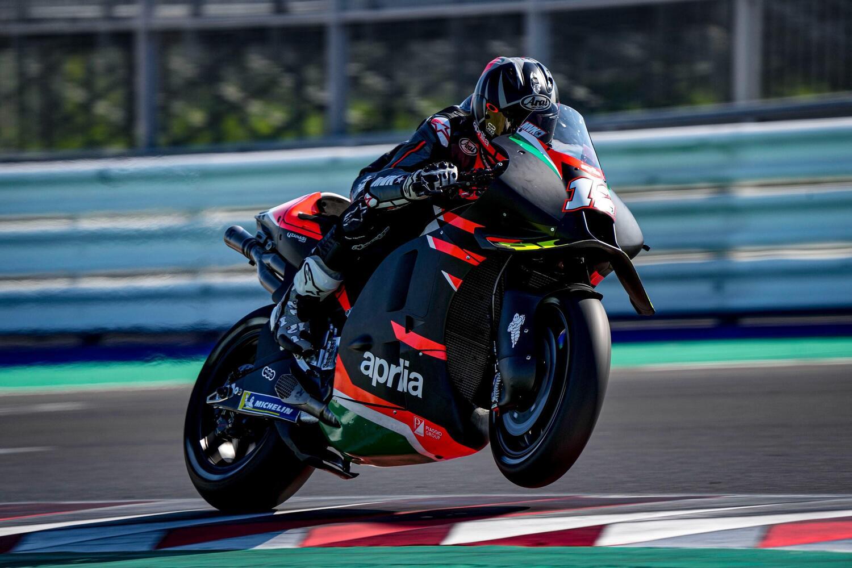 Maverick Vinales, primo test a Misano sull'Aprilia RS-GP: grande feeling, voglio di più [GALLERY]