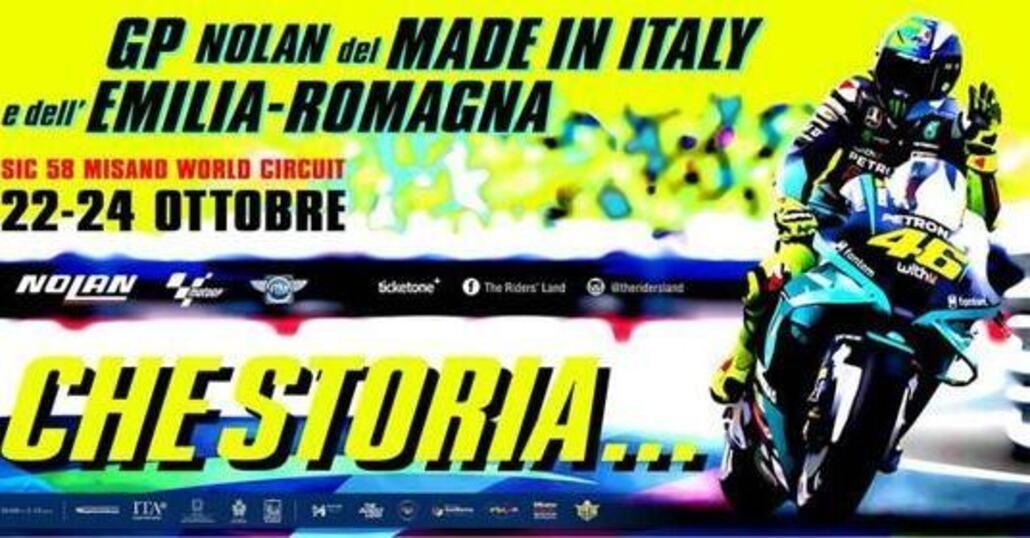 MotoGP, Misano: Valentino Rossi sui poster del Gran Premio