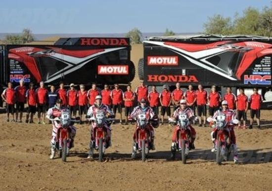 Honda pronta per l'assalto alla Dakar 2014