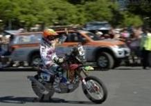 Dakar 2014, Prima Tappa. Joan Barreda (Honda), Ignacio Casale (Quad Yamaha), e Carlos Sousa (Haval) i primi leader