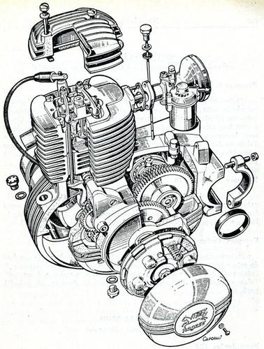 Spaccato moto Pegaso