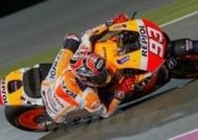 Marquez vince il GP del Qatar. Rossi 2°