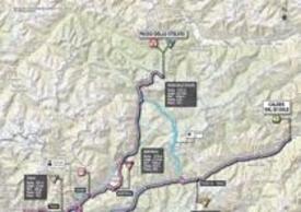 Planimetria della penultima tappa del Giro d'Italia