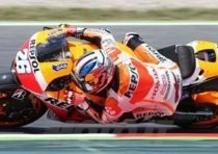 MotoGP. Pedrosa in pole davanti a Lorenzo e Marquez, che cade