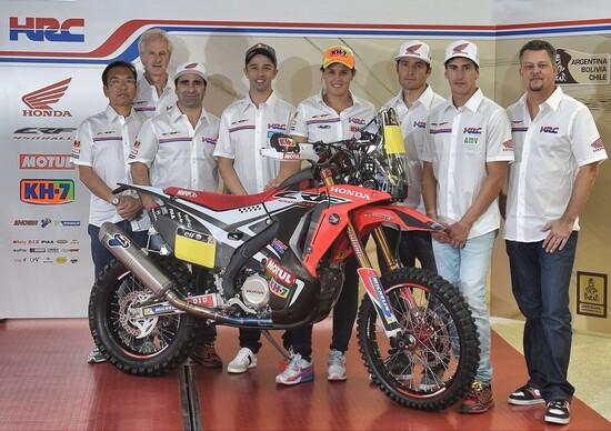 Honda presenta il team e la CRF Rally della Dakar 2015