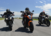 Aprilia vs BMW vs KTM. Il video del nostro confronto maxi naked