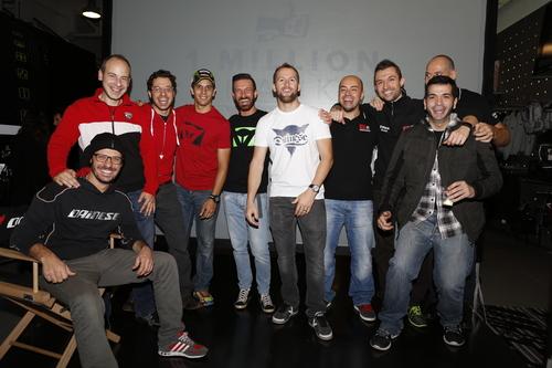 Il team che ha animato la Dainese Night