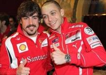 Valentino ha lasciato la Ducati, Alonso la Ferrari: fallita l'operazione simpatia