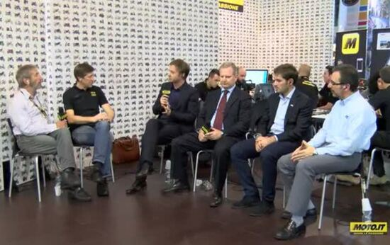 Gli ospiti della tavola rotonda. Da destra: Maurizio Fiorentini, Stefano Chenesi, Enrico Pellegrino e Luca Sacchi