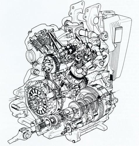 Il motore delle Honda CX 500 e 650 aveva quattro valvole per cilindro, azionate da aste e bilancieri, ed era raffreddato ad acqua. La V tra i due cilindri era di 80° e il cambio era alloggiato nella parte inferiore del basamento