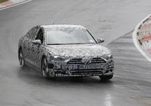 Nuova Audi A8: muletto in test al Nurburgring