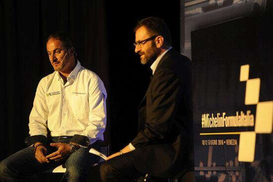 Marco Do (a destra) è il responsabile comunicazione per l'Italia di Michelin