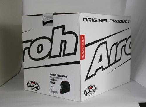 La scatola che contiene il casco