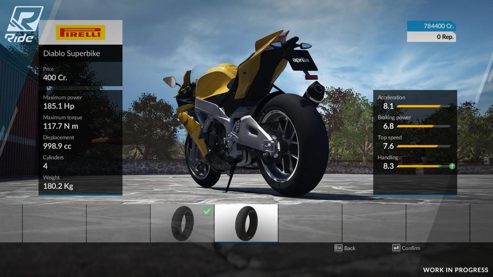 La gommatura Pirelli disponibile per l'Aprilia RSV4