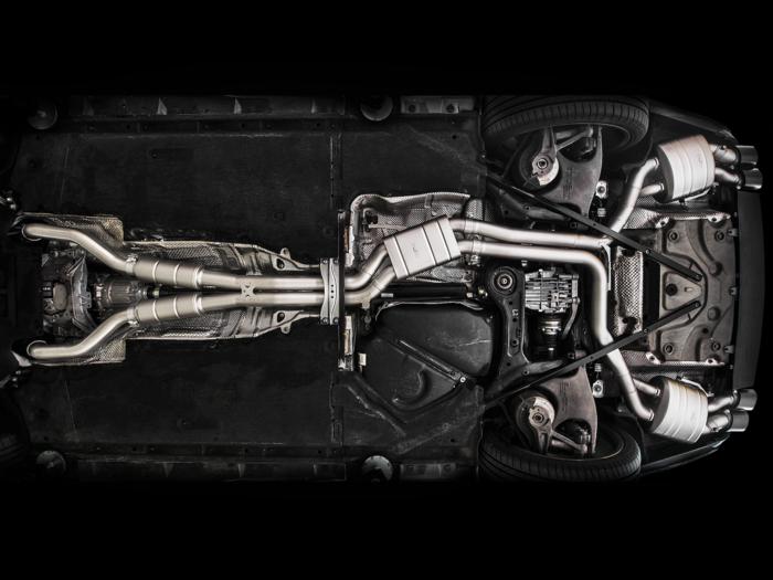 Lo scarico di una Audi S7