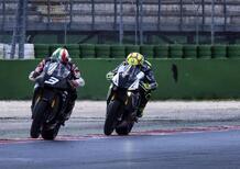 Valentino Rossi sfida... Luca Cadalora!