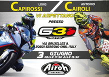 Airoh: Cairoli e Capirossi ospiti da 3G Moto