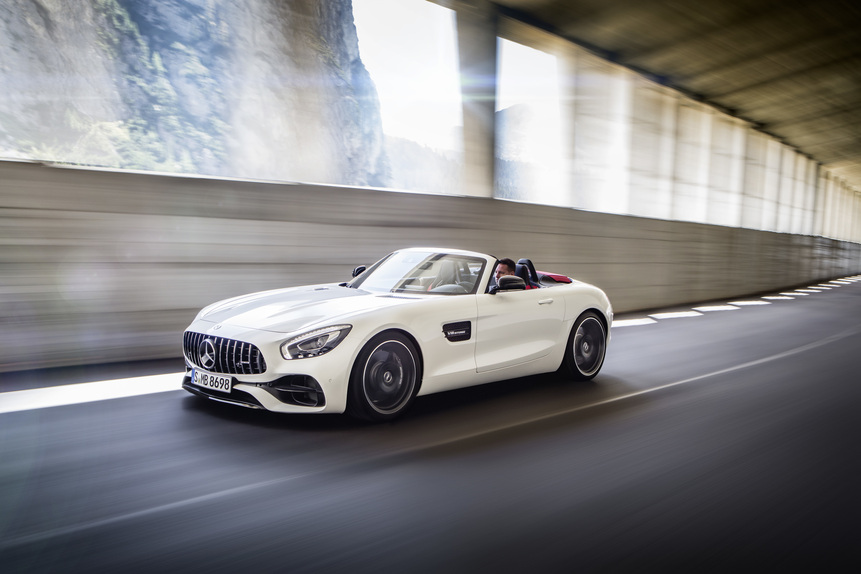 Mercedes-AMG GT e GT C Roadster: al Salone di Parigi 2016 en-plain-air (5)